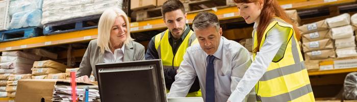 الإدارة اللوجستية للمستودعات ونظم التحكم والإمداد