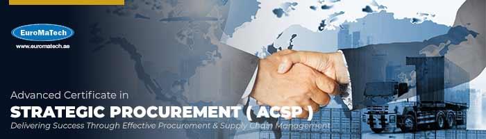 شهادة متقدمة في المشتريات الاستراتيجية (ACSP)
